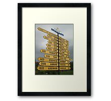 2407 Kilometres to the North Pole. Framed Print