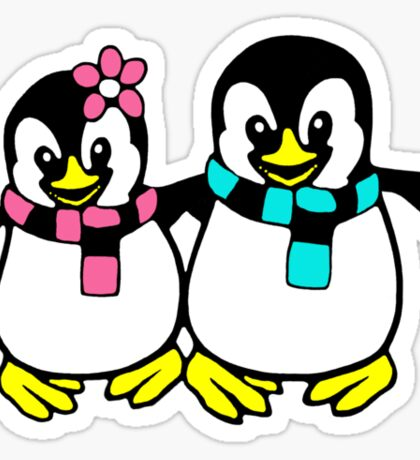 Happy Penguins Sticker