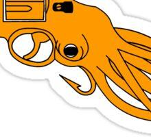 Octopus Revolver Sticker