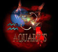 Aquarius zodiac astrology by Valxart poster by Valxart