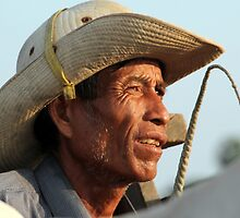 The Weathered Face of an Ox Cart Driver by Laurel Talabere