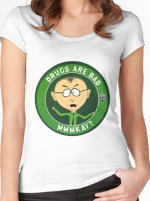 Mr Mackey (drugs are bad) Women's Fitted Scoop T-Shirt