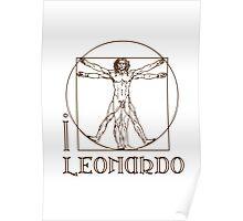 I LOVE LEONARDO DA VINCI T-shirt Poster