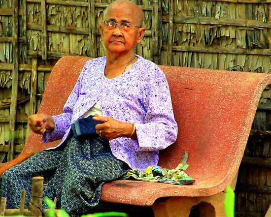 Cambodian Elder by Laurel Talabere