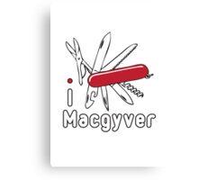 I LOVE MACGYVER T-shirt Canvas Print