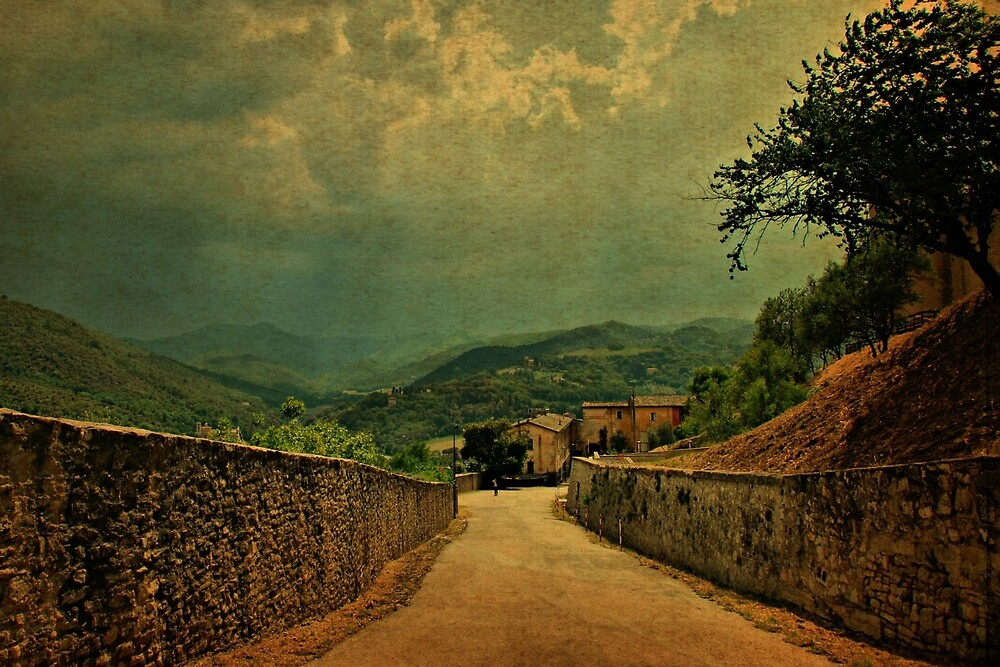 A Break in The Clouds-Spoleto, Italy by Deborah Downes
