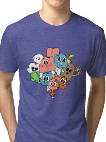The Amazing World Of Gumball Tri-blend T-Shirt
