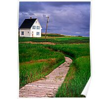 Along the Cottage Path Poster