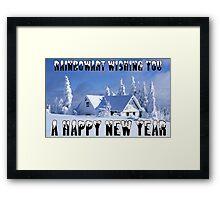 RAINBOWART WISHING YOU A HAPPY NEW YEAR Framed Print