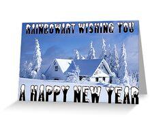RAINBOWART WISHING YOU A HAPPY NEW YEAR Greeting Card