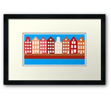 AMSTERDAM CANAL HOUSES Framed Print