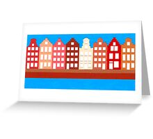 AMSTERDAM CANAL HOUSES Greeting Card