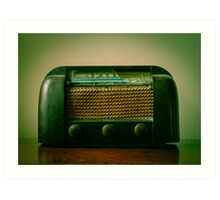 Old Broken Vintage Radio Art Print
