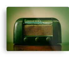 Old Broken Vintage Radio Metal Print