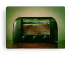 Old Broken Vintage Radio Canvas Print
