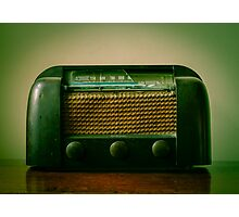 Old Broken Vintage Radio Photographic Print