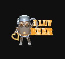 I Luv Beer by Valxart Mens V-Neck T-Shirt