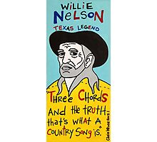 Willie Nelson Country Folk Art Photographic Print