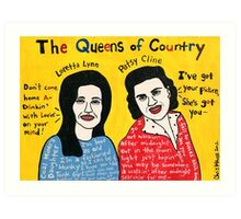 Queens of Country Folk Art Art Print