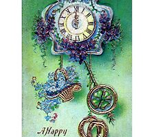 A Happy New Year Blank Greeting Card by Oldetimemercan