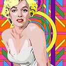 Black light Marilyn Monroe by LockOFF