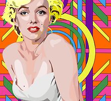 Black light Marilyn Monroe by LockOFF