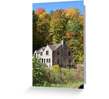 Old Farmhouse back in the woods Greeting Card