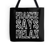 FRANKIE SAY RELAX Funny Retro GOES TO HOLLYWOOD 80s Music Tote Bag