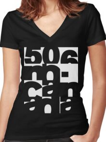 5ive 0h 6ix - 506 - New Brunswick Women's Fitted V-Neck T-Shirt