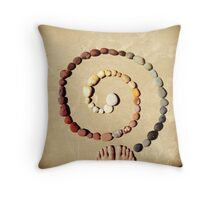 in-spiral Throw Pillow