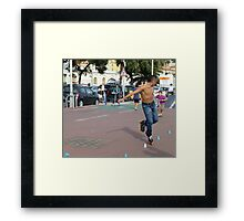 The Speed Skater Framed Print