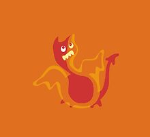 Baby Red Dragon iPhone Case by Jane McDougall