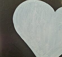Black and White Heart by Donna Zenz
