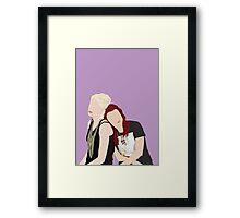 Skins UK - Naomi and Emily  Framed Print