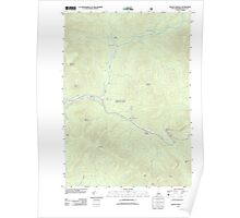 USGS TOPO Map New Hampshire NH Mount Osceola 20120508 TM Poster