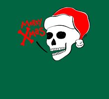 Santa Claus Skull Womens Fitted T-Shirt