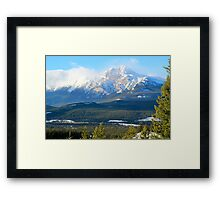 Pyramid Mountain Framed Print