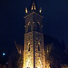 Church Tower at Night by usingfreetime