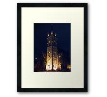 Church Tower at Night Framed Print