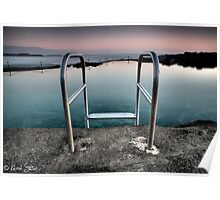 Kiama Rock Pool Sunrise Poster