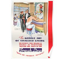 Vintage poster - French Line Cruises Poster