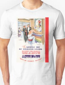 Vintage poster - French Line Cruises T-Shirt