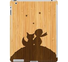 Bamboo Look & Engraved Little Prince with Fox iPad Case/Skin