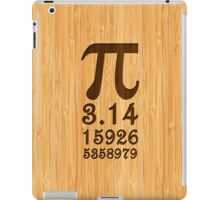 Bamboo Look & Engraved Pi Numbers iPad Case/Skin