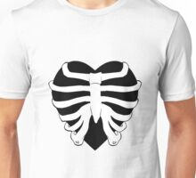 Skeletal Ribbed Heart Graphic Unisex T-Shirt
