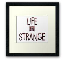 Life is strange edited logo Framed Print