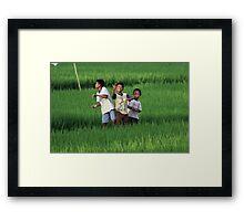 Bali Boys Framed Print
