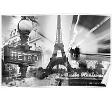 Paris Collage Poster