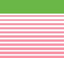 Alpha Kappa Alpha Stripes by jlynnart