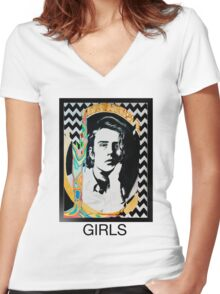 Christopher Owens Women's Fitted V-Neck T-Shirt